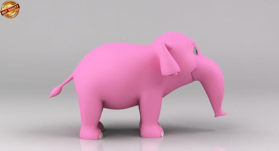 Dessin animé bébé éléphant royalty-free 3d model - Preview no. 5