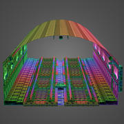 Subway Tunnel Segment 3d model