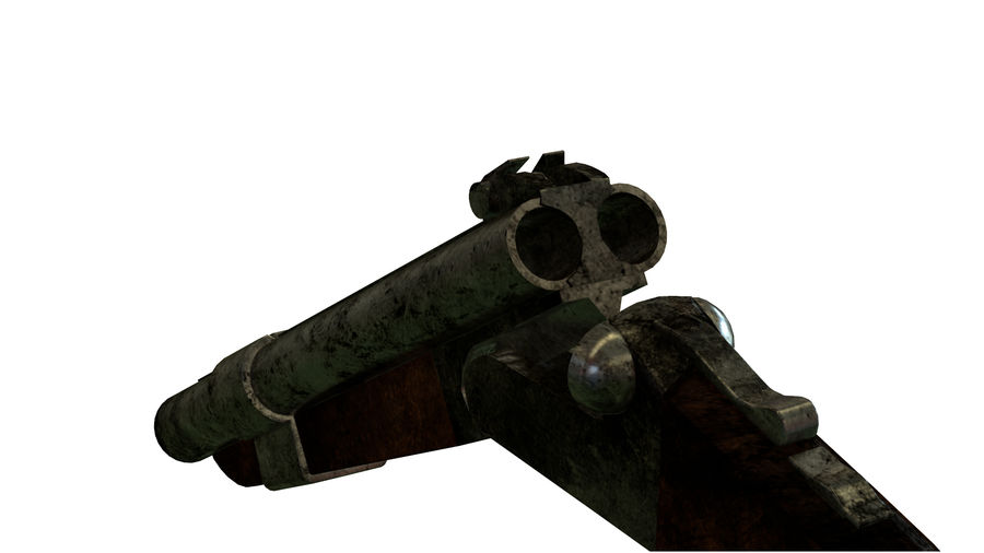 Shot弹枪 royalty-free 3d model - Preview no. 8