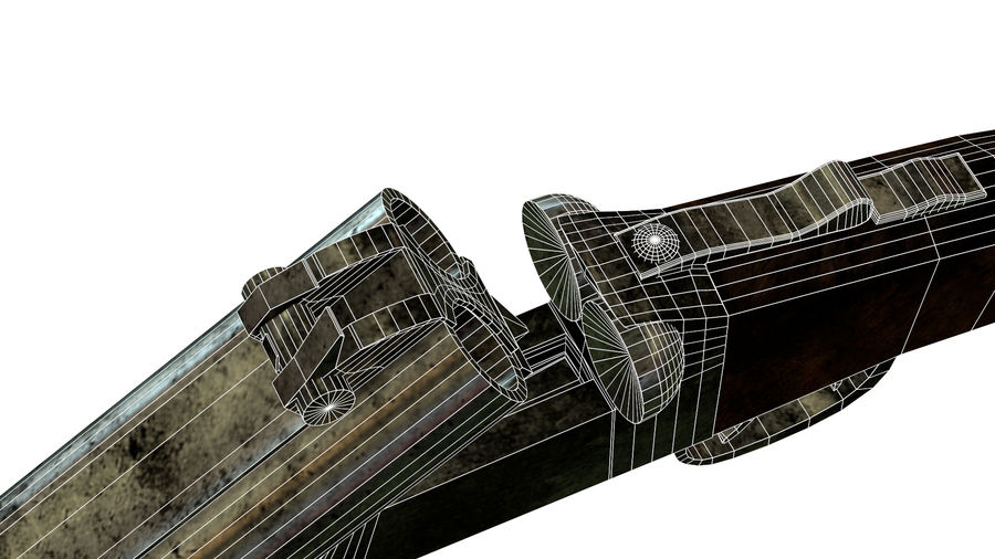 Shot弹枪 royalty-free 3d model - Preview no. 15