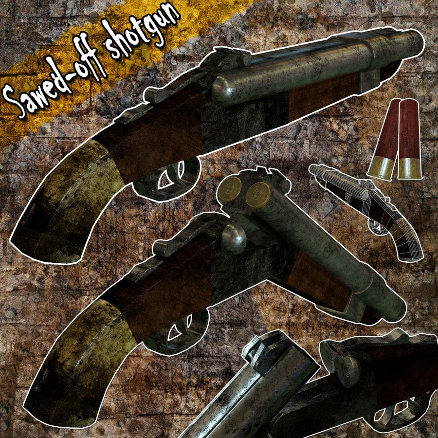 Shot弹枪 royalty-free 3d model - Preview no. 1