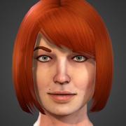 Female realtime head 3d model