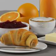 Fransız kahvaltısı 3d model