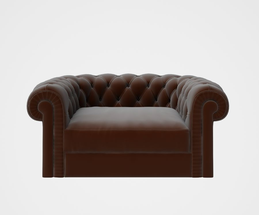fauteuil (1) royalty-free 3d model - Preview no. 3