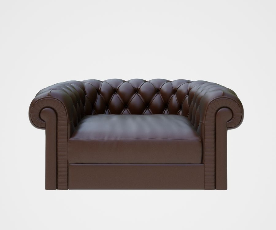 fauteuil (1) royalty-free 3d model - Preview no. 4