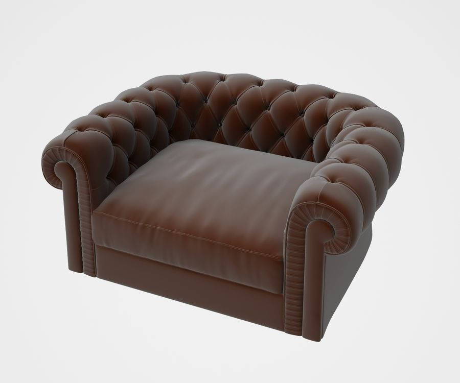fauteuil (1) royalty-free 3d model - Preview no. 2