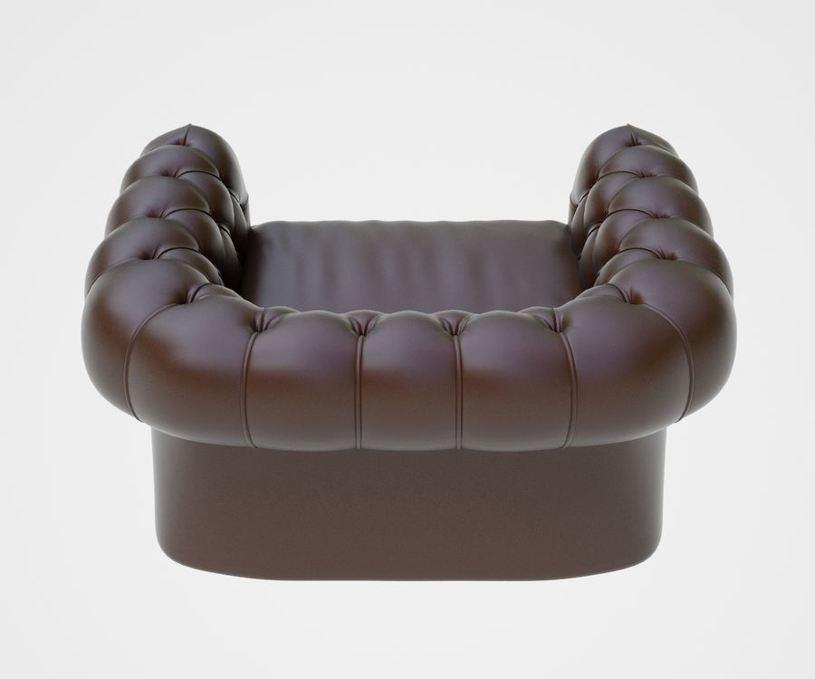 fauteuil (1) royalty-free 3d model - Preview no. 7