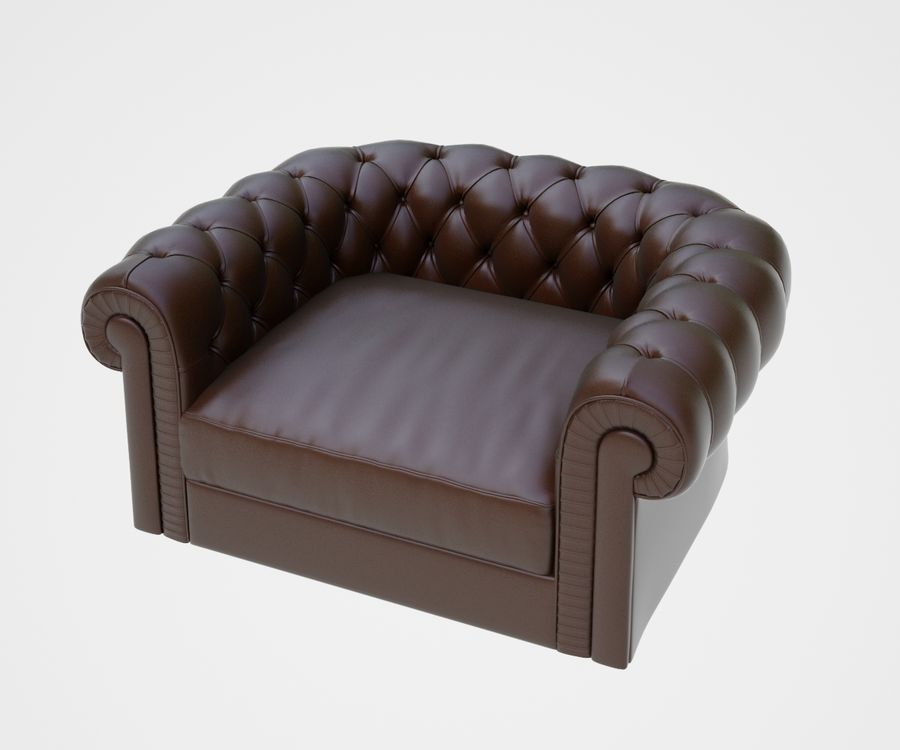 fauteuil (1) royalty-free 3d model - Preview no. 1