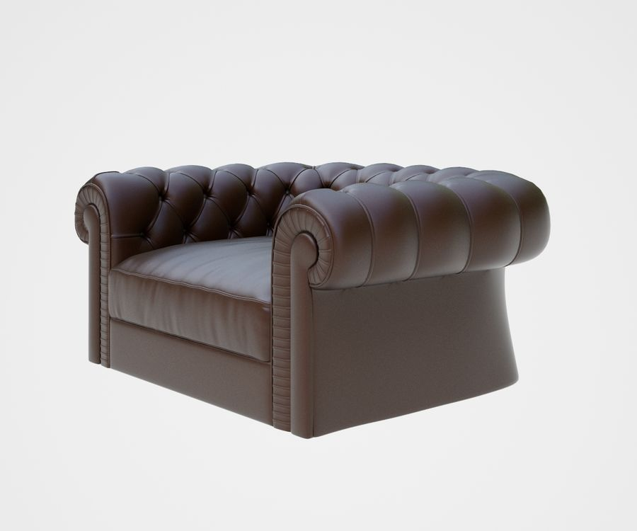 fauteuil (1) royalty-free 3d model - Preview no. 5