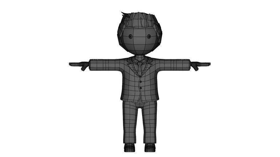 卡通人物与钻机 royalty-free 3d model - Preview no. 2