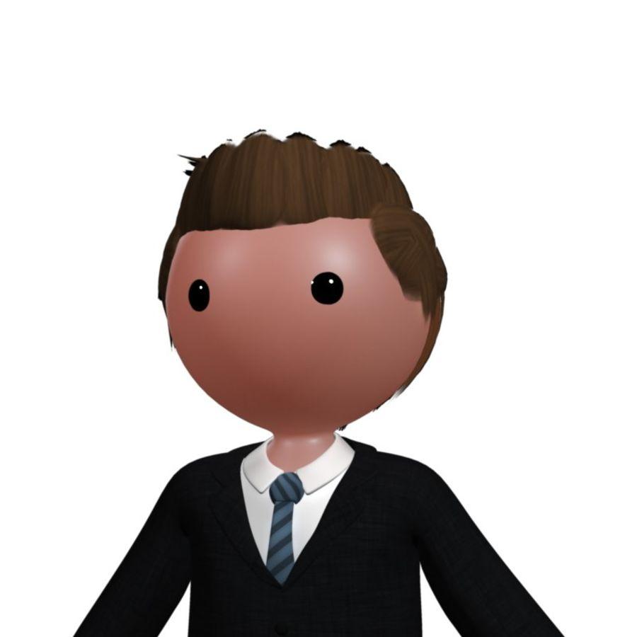 卡通人物与钻机 royalty-free 3d model - Preview no. 1