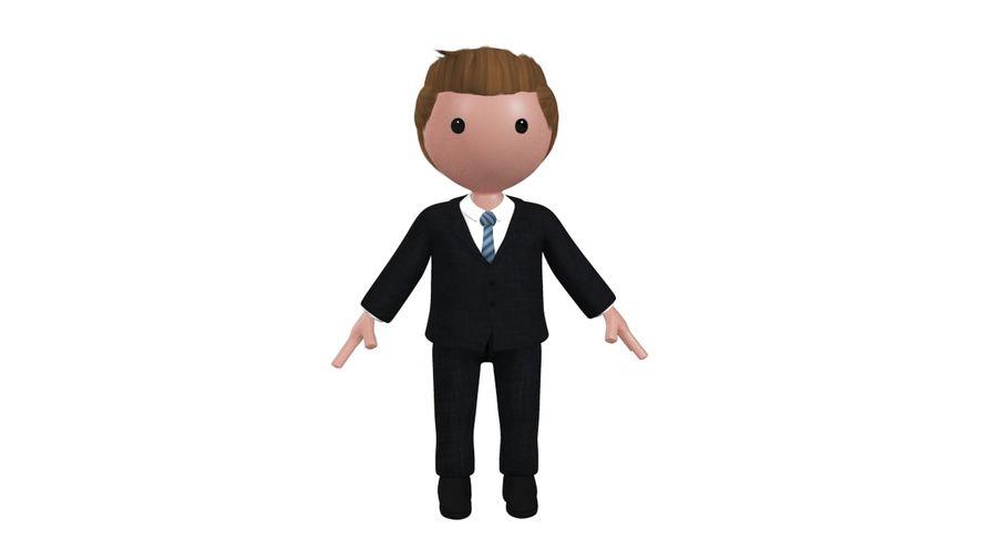 卡通人物与钻机 royalty-free 3d model - Preview no. 3