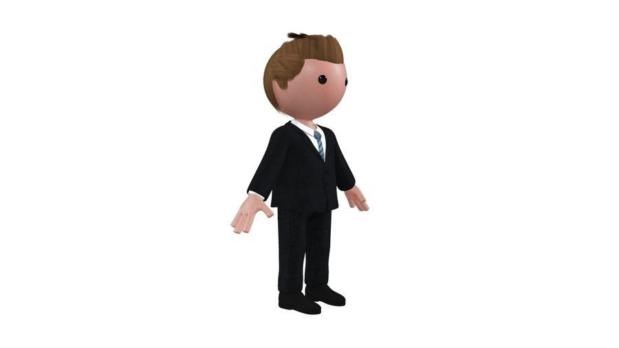 卡通人物与钻机 royalty-free 3d model - Preview no. 4
