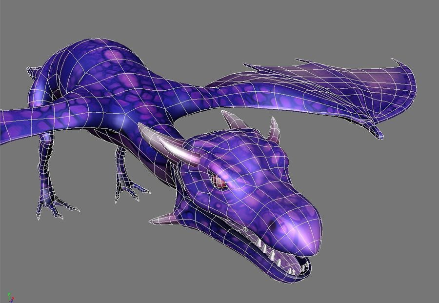 Dragon royalty-free 3d model - Preview no. 13