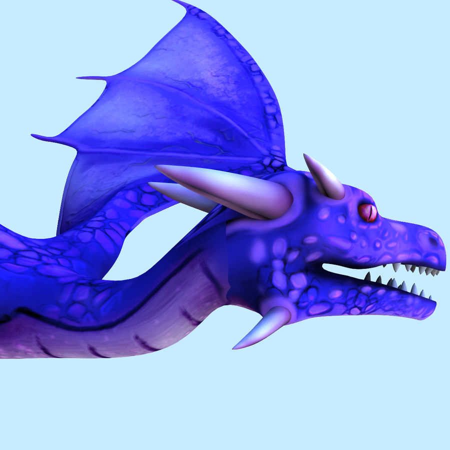 Dragon royalty-free 3d model - Preview no. 6