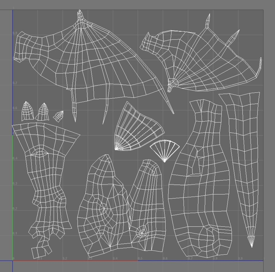 Dragon royalty-free 3d model - Preview no. 11
