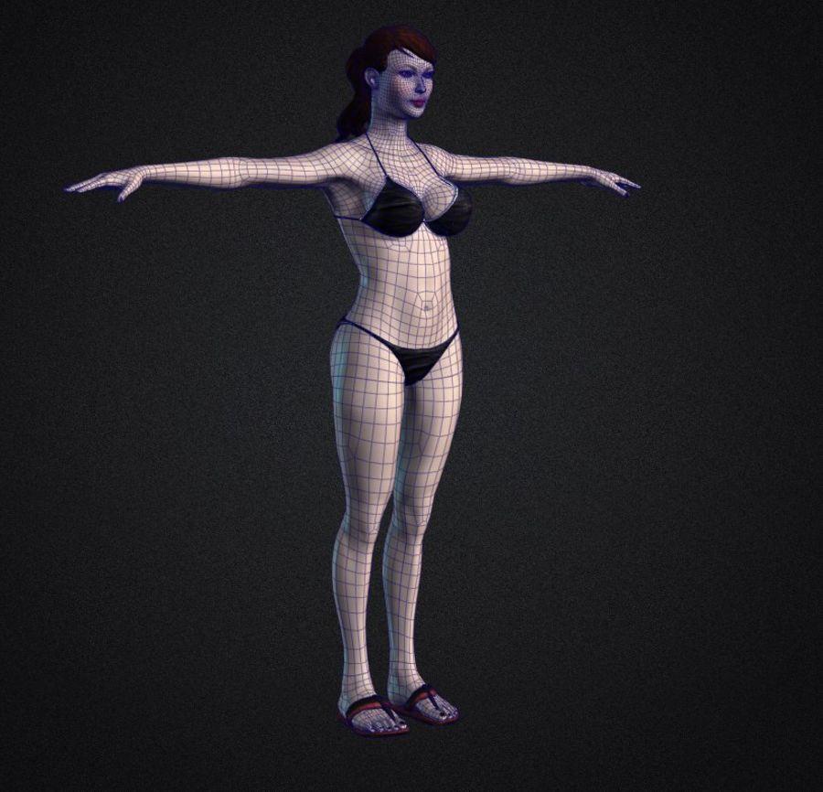 Красивая сексуальная модель бикини Лиза royalty-free 3d model - Preview no. 6