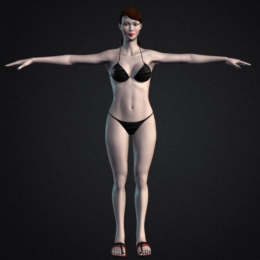 Красивая сексуальная модель бикини Лиза royalty-free 3d model - Preview no. 2