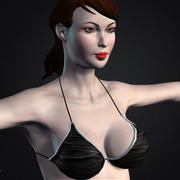 Güzel seksi bikini model lisa 3d model