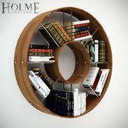 円形の本棚 3d model