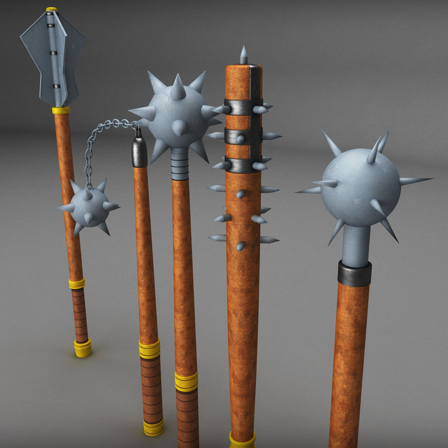 Medieval weapon royalty-free 3d model - Preview no. 8