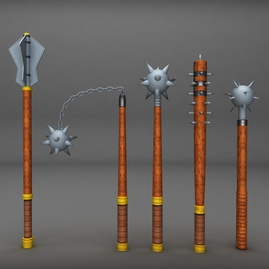Medieval weapon royalty-free 3d model - Preview no. 1