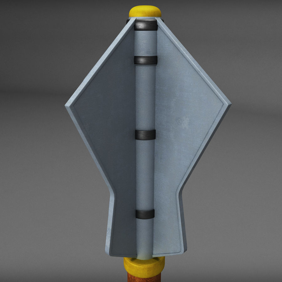 Medieval weapon royalty-free 3d model - Preview no. 2