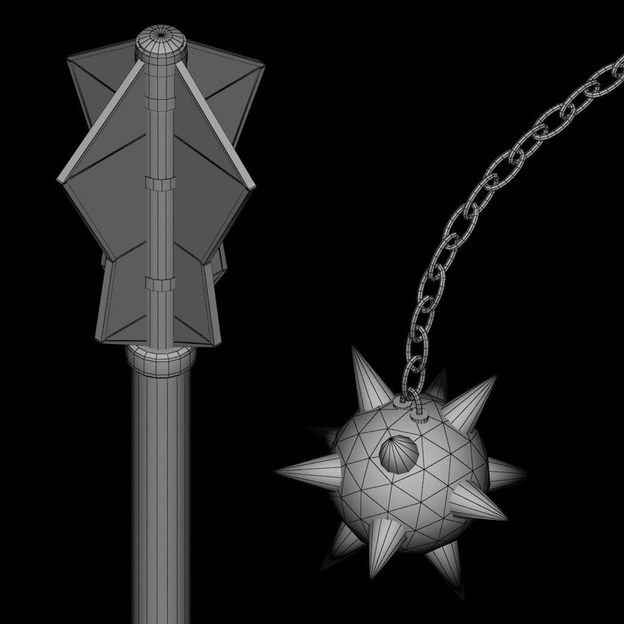 Medieval weapon royalty-free 3d model - Preview no. 14