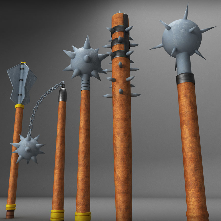 Medieval weapon royalty-free 3d model - Preview no. 9