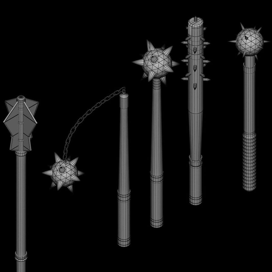 Medieval weapon royalty-free 3d model - Preview no. 12