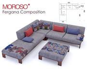 Moroso - Ферганский диван Состав 3d model