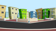 Miasto kreskówek 3d model