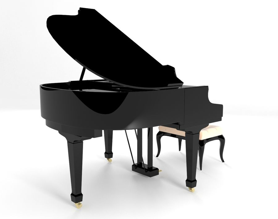 piano royalty-free 3d model - Preview no. 3