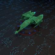 低ポリ宇宙船 3d model