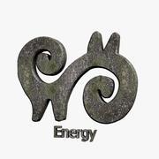 Simbolo di energia 3d model