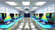 SciFi Interior Data Room 3d model