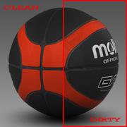 Piłka do koszykówki EBA_black 3d model