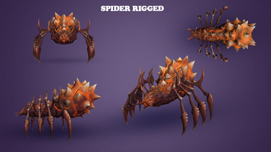 Spider royalty-free 3d model - Preview no. 1