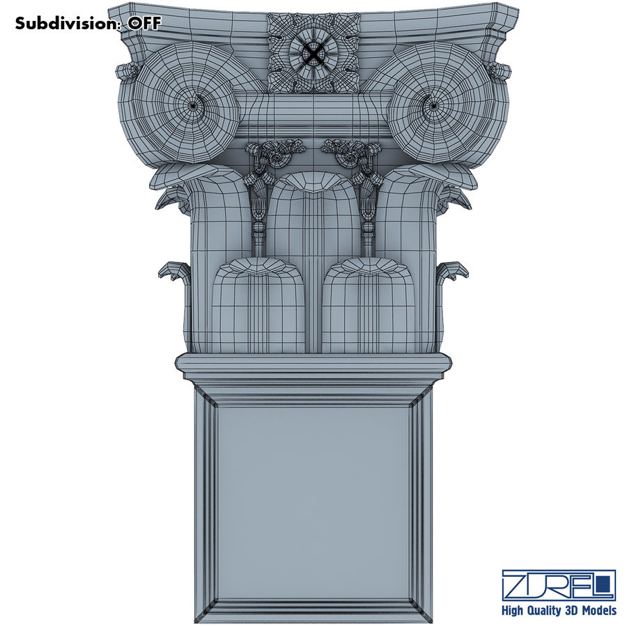 Column capital royalty-free 3d model - Preview no. 9