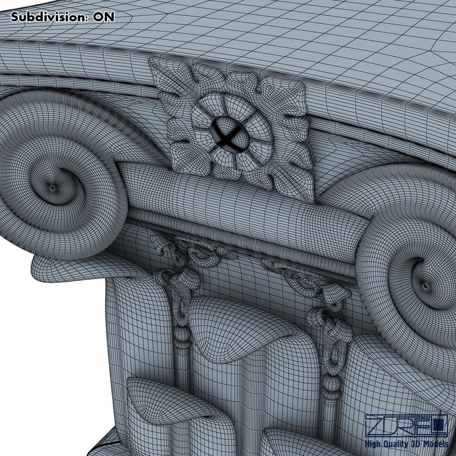 Column capital royalty-free 3d model - Preview no. 16