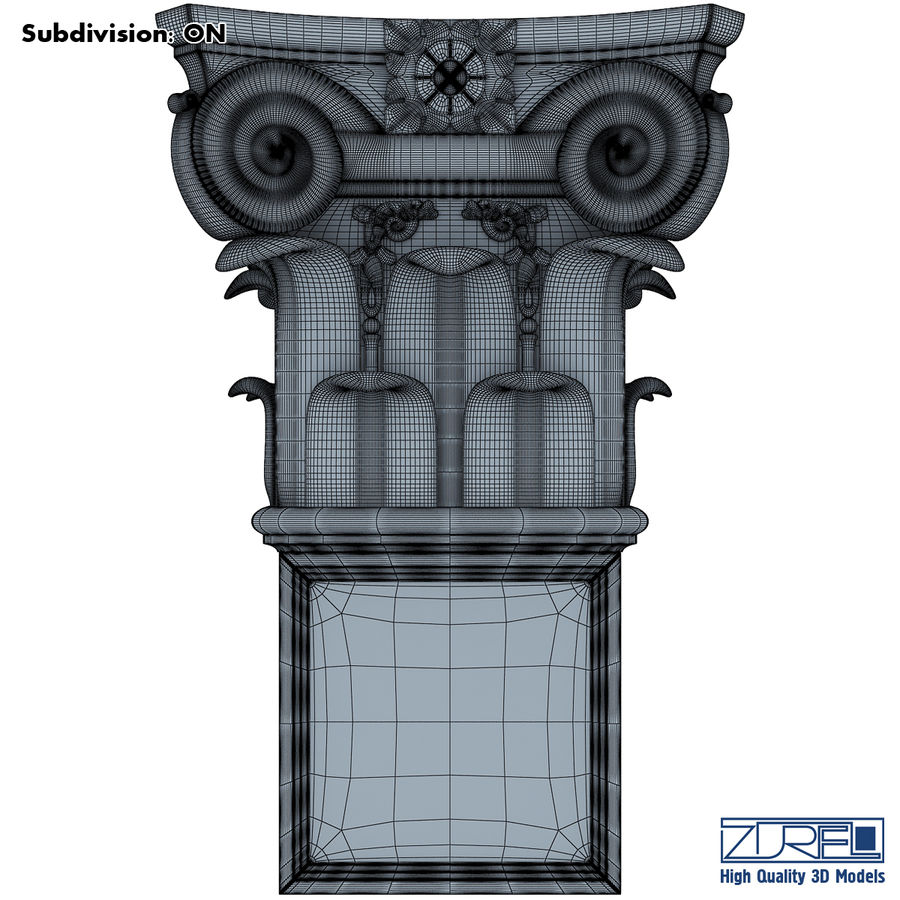Column capital royalty-free 3d model - Preview no. 8