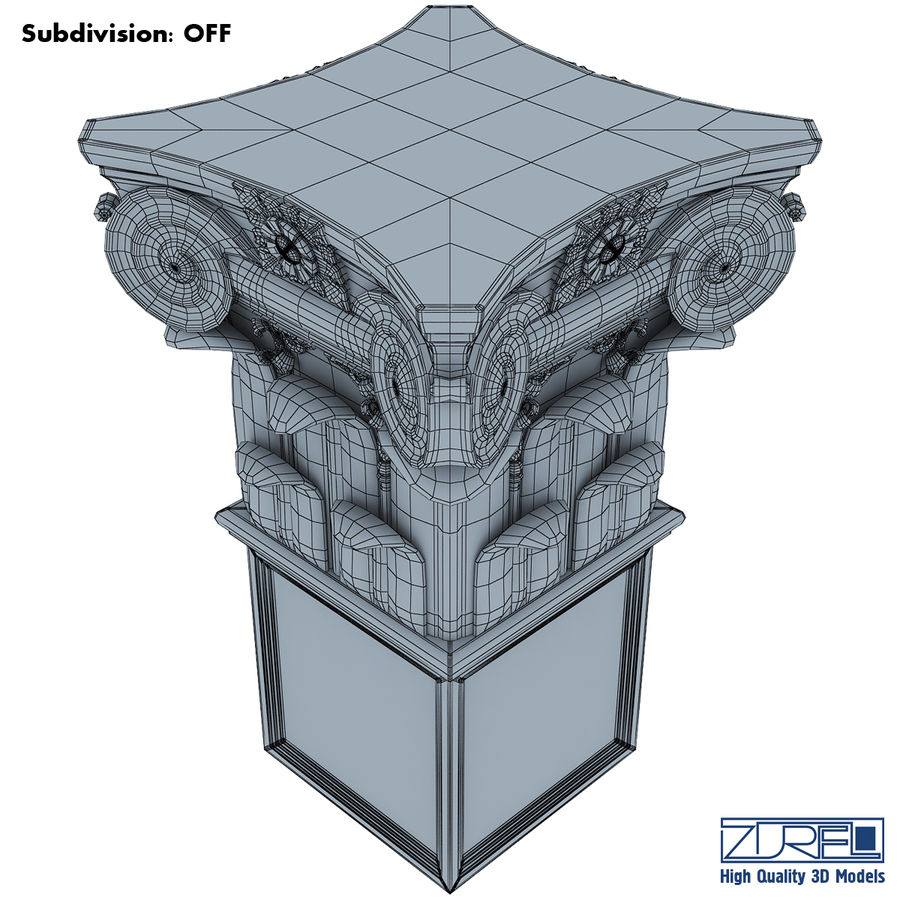 Column capital royalty-free 3d model - Preview no. 13