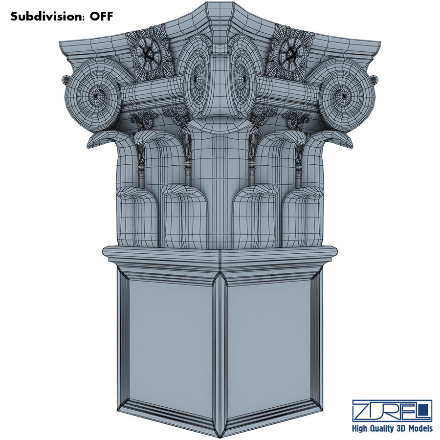 Column capital royalty-free 3d model - Preview no. 11