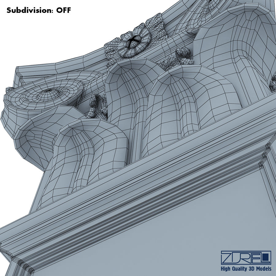 Column capital royalty-free 3d model - Preview no. 19