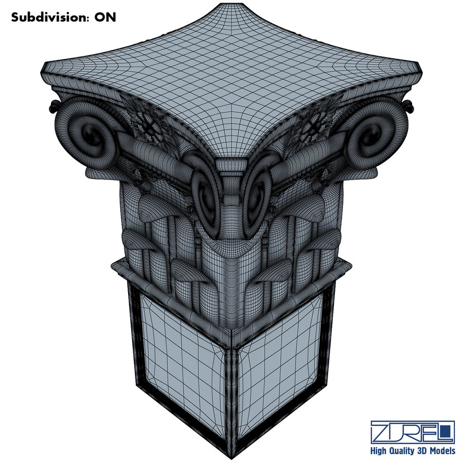 Column capital royalty-free 3d model - Preview no. 12