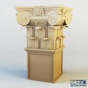 Capitale de la colonne 3d model