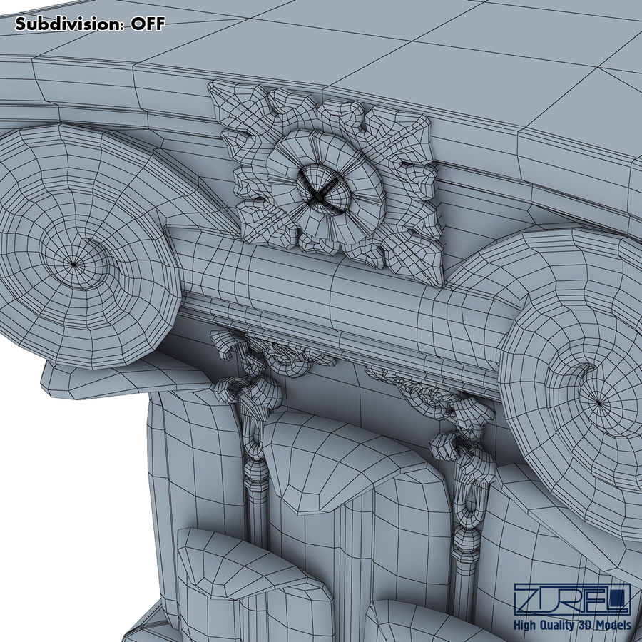 Column capital royalty-free 3d model - Preview no. 17