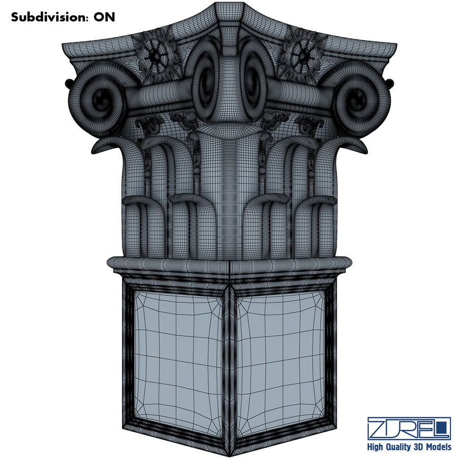 Column capital royalty-free 3d model - Preview no. 10