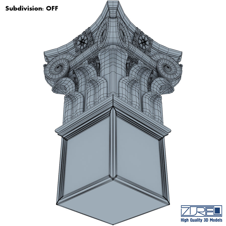 Column capital royalty-free 3d model - Preview no. 15