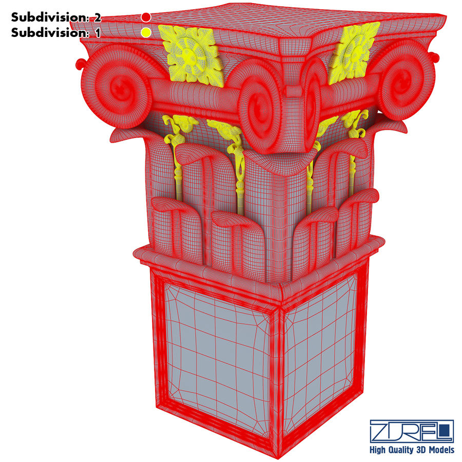 Column capital royalty-free 3d model - Preview no. 20